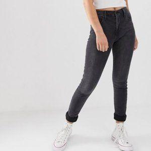 Levi's 721 Black/Grey High Rise Skinny Jeans